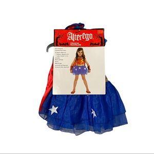 Stellar Gal Girl's Halloween Costume Dress & Cape Size S (4-6)